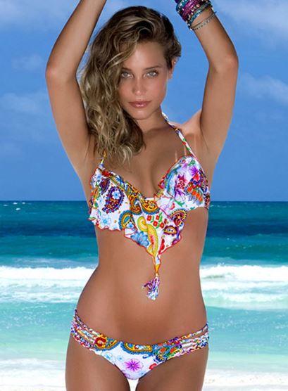 Sanctuary of Style - Tequila Y Sal flutter top bikini by Luli Fama